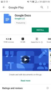 USE GOOGLE DOCS ON ANDROID