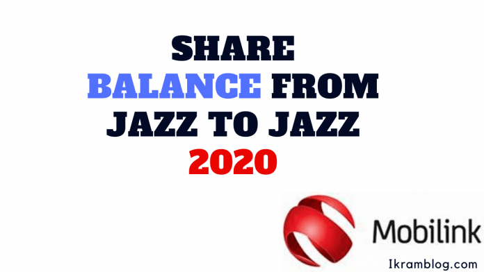 HOW TO SHARE BALANCE FROM JAZZ TO JAZZ 2020
