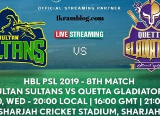 PSL LIVE STREAMING WATCH PSL 2019