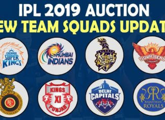 IPL TEAM SQUAD 2019 ALL TEAMS