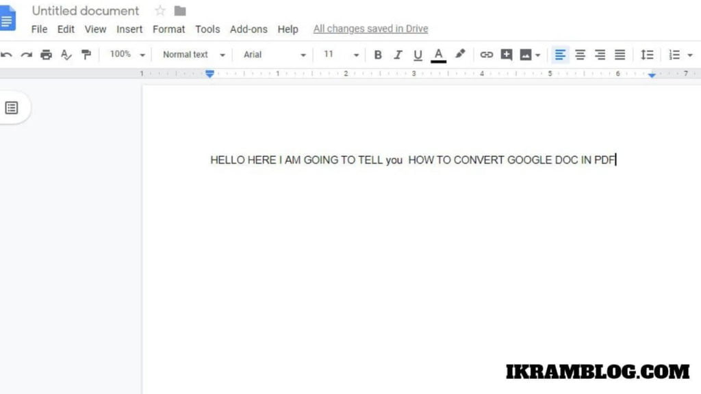 _EXPORT GOOGLE DOC TO PDF