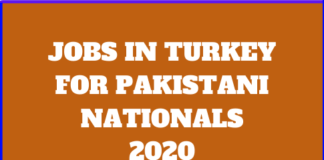 jobs in turkey for Pakistani nationals