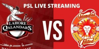 watch PSL live streaming match today islamabad vs lahore